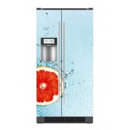Sticker décor de frigo agrume dans l'eau, exclusivité Imprim'Déco