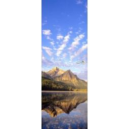 Sticker Décor de porte paysage nuageux