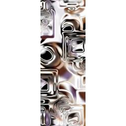 Sticker Décor de porte carrés abstraits