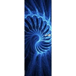 Sticker Décor de porte spirale electrique bleue