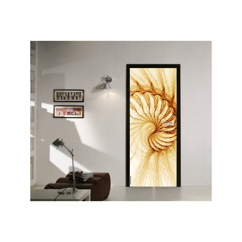 Deco de porte spirale electrique orange