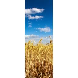 Deco de porte champs de blé