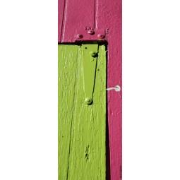 Sticker Décor de porte planches de bois peintes
