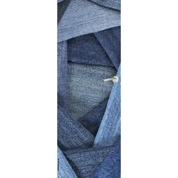 Deco de porte jean's patchwork