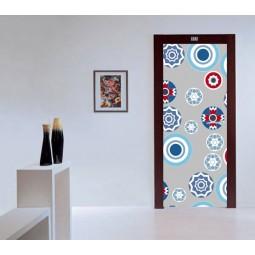 Sticker  de porte ronds colorés