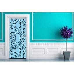 Sticker  de porte motifs bleus