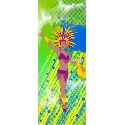 Sticker de porte danseuse brésilienne