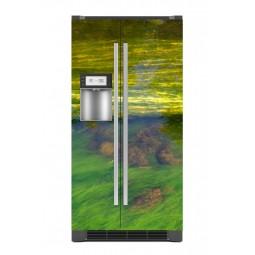 """Sticker décor de frigo """"courant d'eau"""", exclusivité Imprim'Déco"""