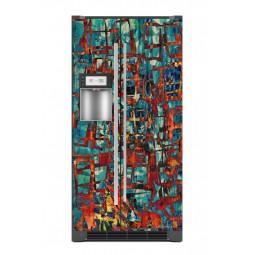 """Sticker décor de frigo """"les portes rouges"""", exclusivité Imprim'Déco"""