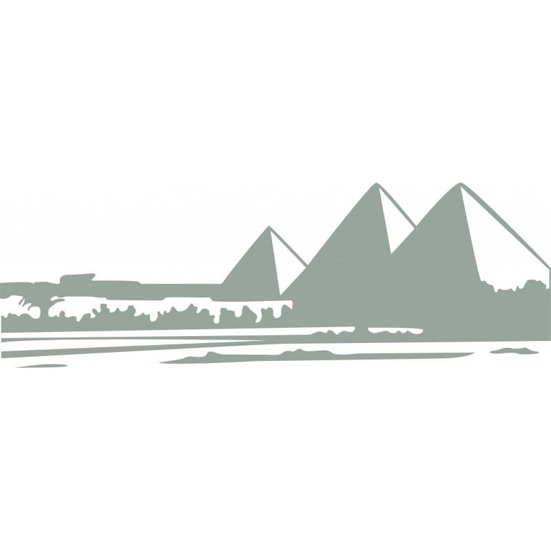 Sticker mural pyramides