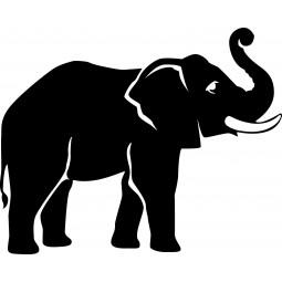 Sticker mural Eléphant