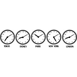 Sticker décalage horaire