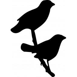 Sticker mural deux oiseaux