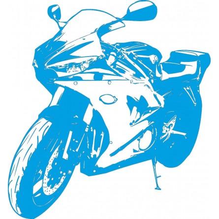 Sticker mural moto