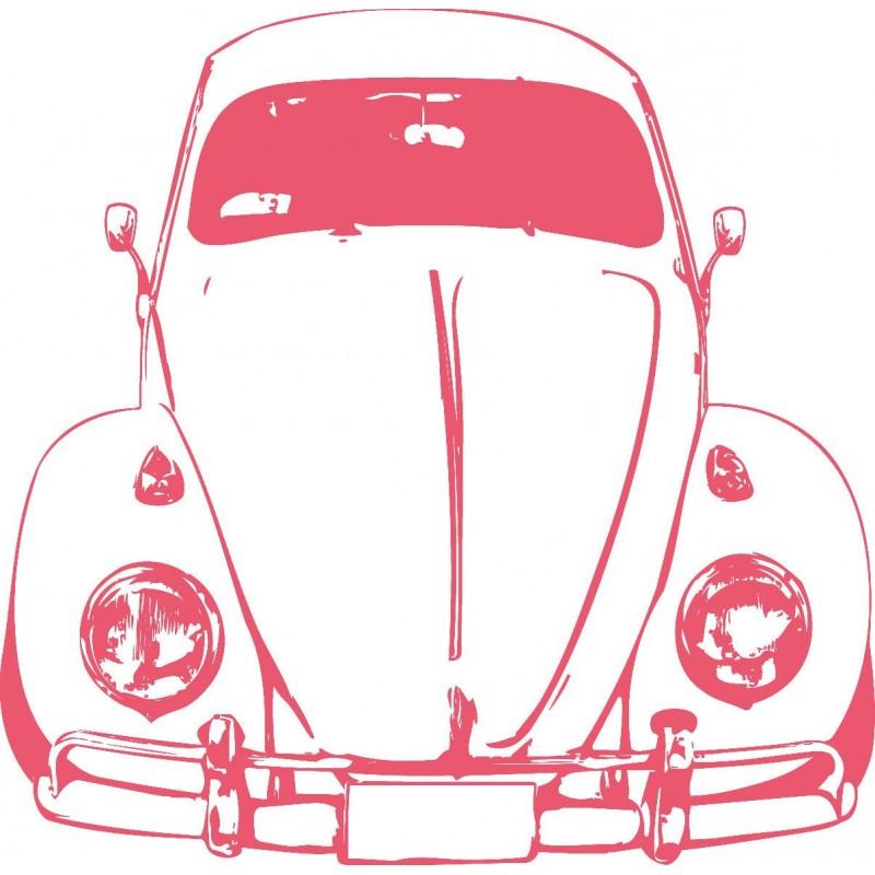 Sticker mural voiture cox