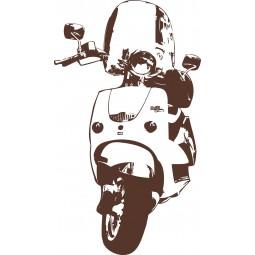 Sticker mural Scooter italien