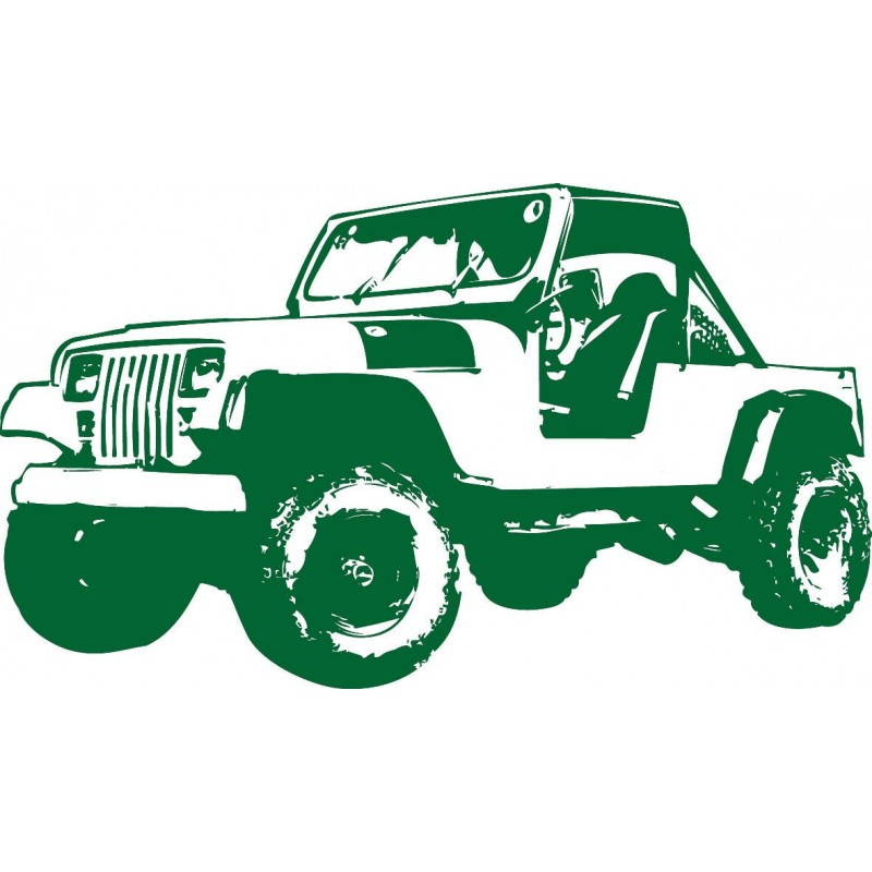 Sticker mural Jeep