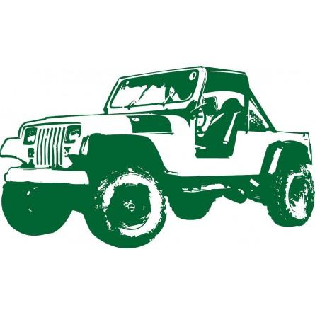 Sticker mural Jeep
