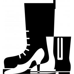 Sticker mural chaussures