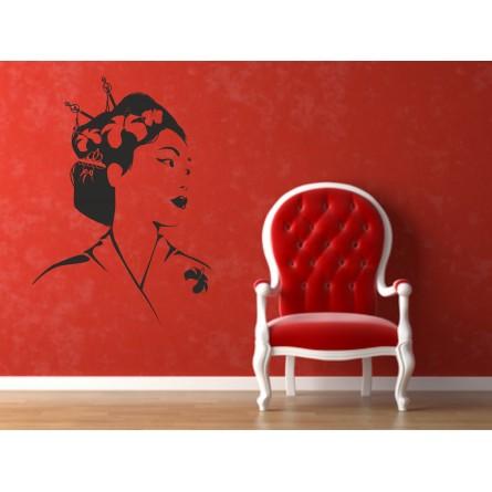 Sticker mural geisha