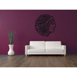 Sticker mural tête Apache