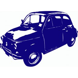 Sticker mural Voiture Fiat 500