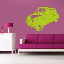Sticker mural Voiture Fiat 500