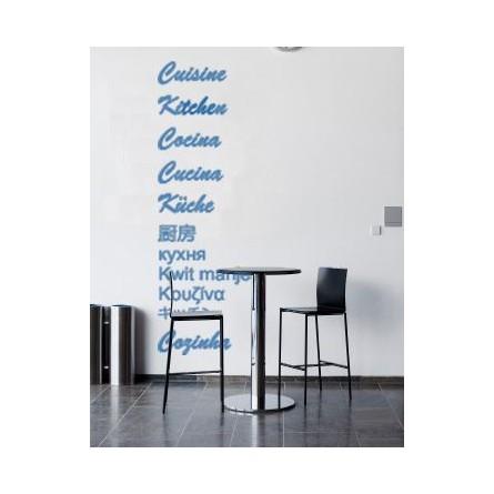 Sticker cuisine en plusieurs langues
