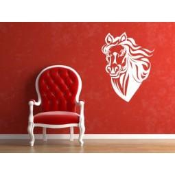 Sticker mural T^te de cheval