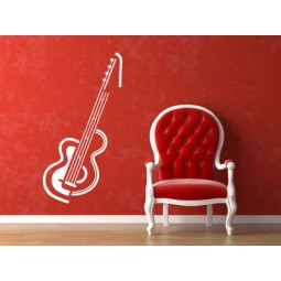 Sticker mural guitare destructurée