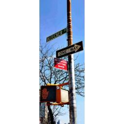 "Poster porte ""One way"""