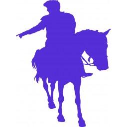 Stciker prince charmant à cheval