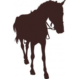 Sticker silhouette de cheval