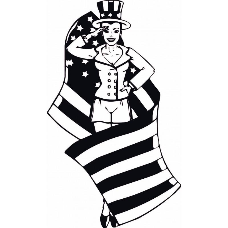 Sticker Miss América