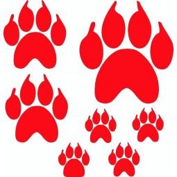 planche de stickers pattes d'ours