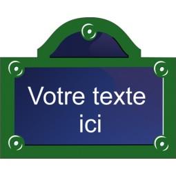 Sticker plaque de rue Paris