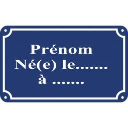 Sticker plaque de rue Parisienne