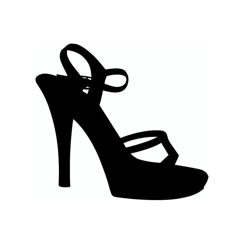 sticker vinyl autocollant chaussure femme