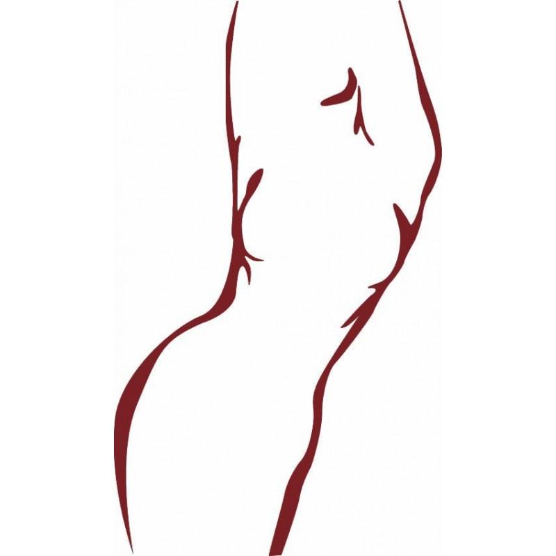 sticker mural silhouette femme