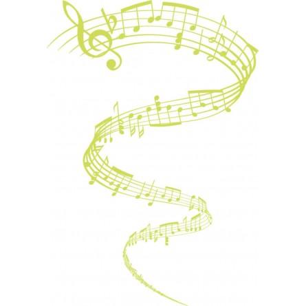 Sticker autocollant notes de musique