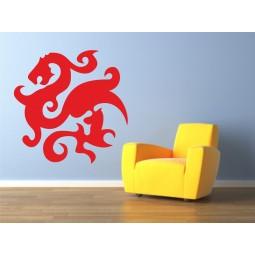sticker decoration murale dragon