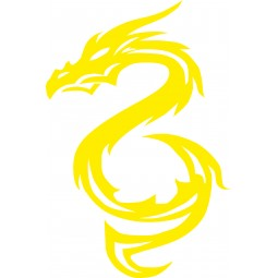 sticker autocollant dragon debout