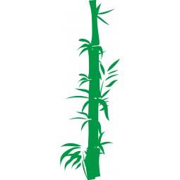sticker decoration murale bambou