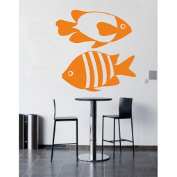 sticker mural 2 poissons