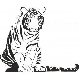 sticker decoration murale tigre