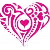 sticker vinyl coeur tatoo
