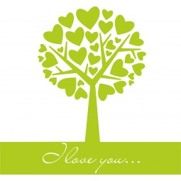 sticker decoration arbre a coeur