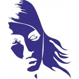 sticker visage femme