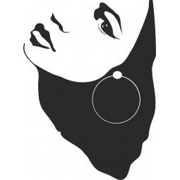 Sticker mural ombre visage