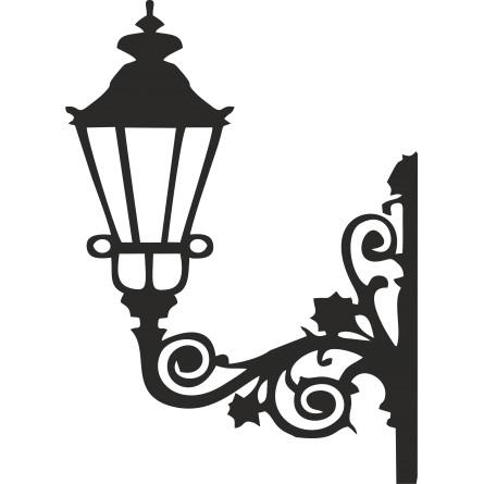 Sticker candelabre mural